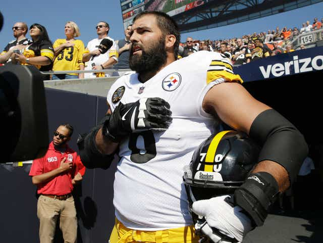 Steelers' Alejandro Villanueva donates royalties in wake of protests