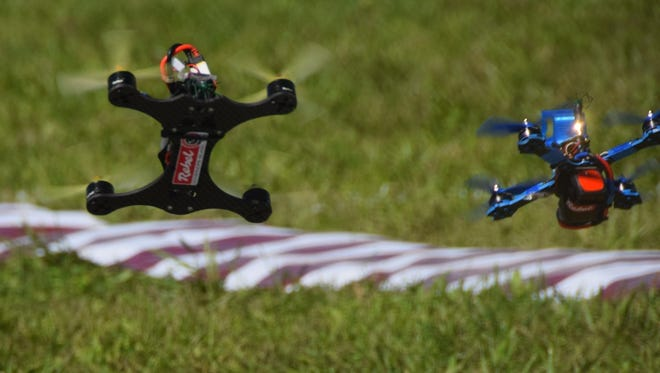 Purdue University's drone club hosts the first national collegiate drone racing championship on Saturday. The competition is at the intramural fields north of Third Street and south of Stadium Avenue.
