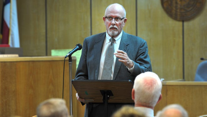 Wichita County 30th district Judge, Bob Brotherton, spoke Monday afternoon during a memorial held for Former District Judge Calvin Ashley. Ashley was elected county judge in 1962 and served in that position until he was appointed district judge in 77.