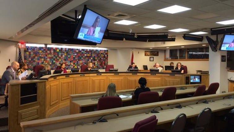 Duval County School Board voting on teacher salary.