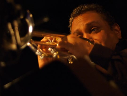 Vermont trumpet player Ray Vega performs at FlynnSpace