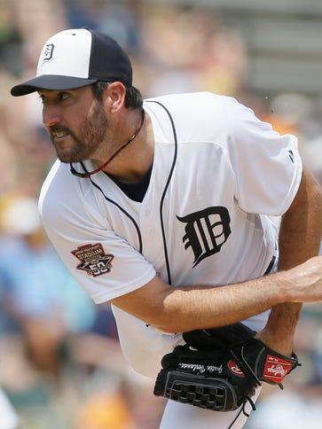 Detroit Tigers starting pitcher Justin Verlander throws