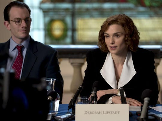"Rachel Weisz and Andrew Scott in Mick Jackson's ""Denial,"" which will be screened at Wilmington's Theatre N this weekend."