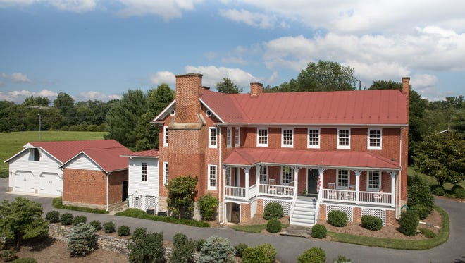 Outside 3938 Springhill Road in Staunton, a pre-Civil War home up for sale.