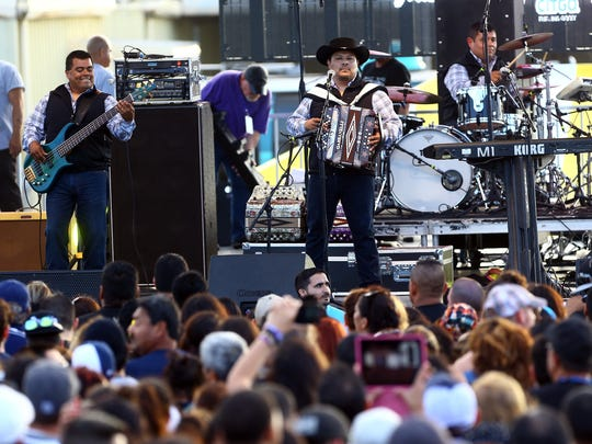 Los Palominos perform during the second day of Fiesta