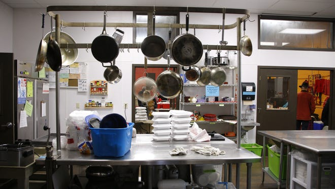 The main kitchen at the Allen Neighborhood Center is shown Jan. 18, 2017. Lansing State Journal file photo/Al Goldis.