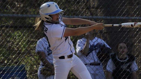 Suffern pitcher Sam Kaner swings at a pitch during