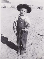 John Arthur Smith as a child in New Mexico.