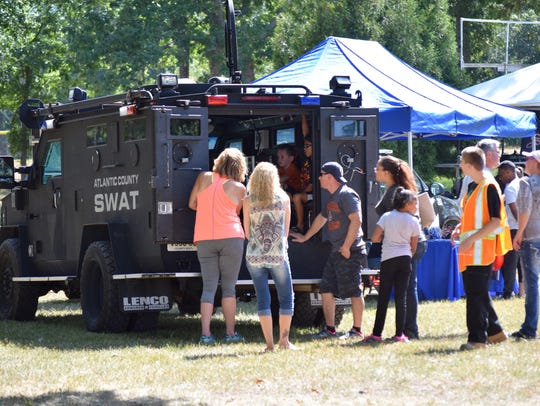The Atlantic County SWAT truck caught the interest