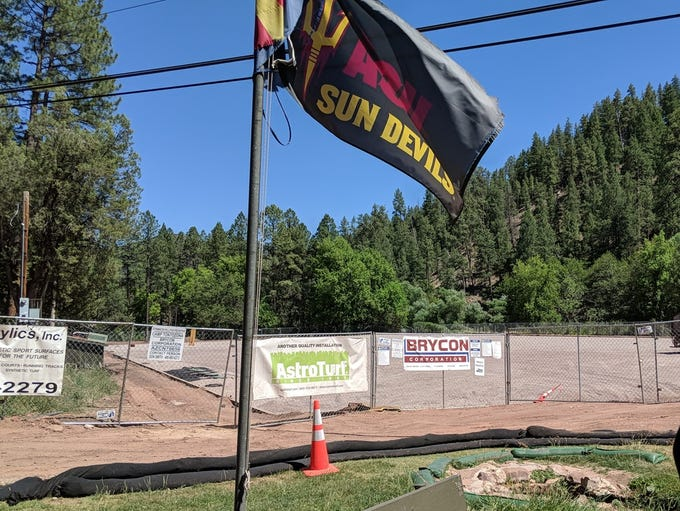 A view of the Camp Tontozona field under renovation