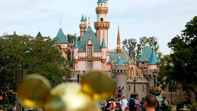 Authorities say thieves made off with 8,000 Disneyland tickets when they stole a box trailer from a youth agricultural education organization. The California Highway Patrol says the trailer is owned by Future Farmers of America and was stolen Wednesday, April 18, 2018, from the group's office in the city of Galt, south of Sacramento. (AP Photo/Jae C. Hong, File)
