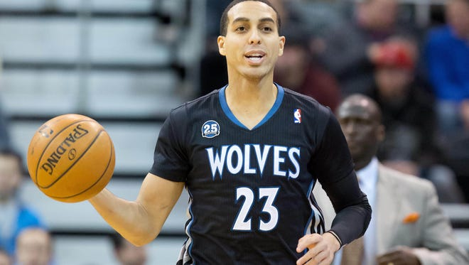 Minnesota Timberwolves shooting guard Kevin Martin (23) will be out at least a couple more weeks with a thumb injury.