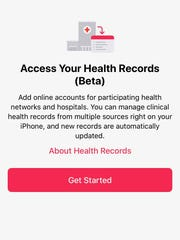 The updated Health Records feature is in beta.
