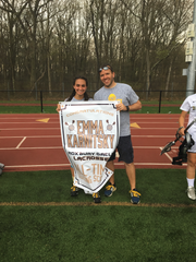 Emma Karnitsky became Roxbury High School's all-time leading scorer for girls lacrosse on Thursday. She had five goals and two assists as the Gaels defeated Pequannock, 12-3.