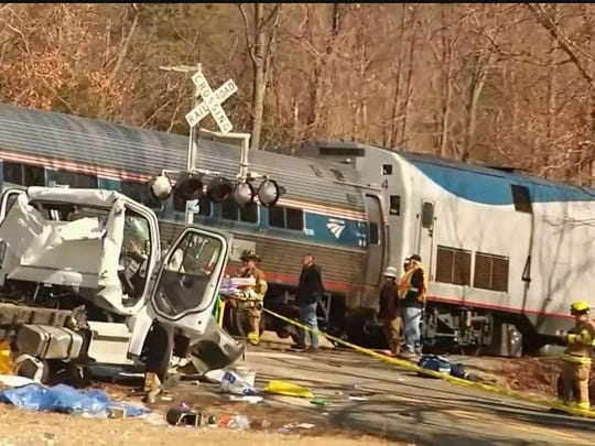 One man died in an accident Wednesday involving a train carrying Republican lawmakers to their annual retreat in West Virginia when it collided with what appeared to be a garbage truck on Jan. 31, 2018.