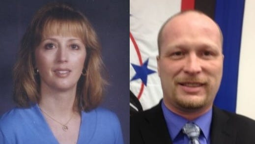 Michele Jahnke in a photo contributed in 2005 and Wally Leipart in a photo from 2013.