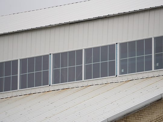 New windows near the roof of the Richland County Highway Garage update the look and functionality of the building.