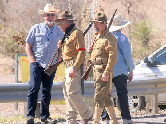 It is not uncommon to see people dressed in period military uniforms during the annual Camp Furlong Day at Pancho Villa State Park in Columbus, NM.