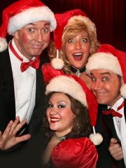 The Sweet Fanny Adams cast returns to the theater stage Dec. 10. The building survived the Gatlinburg wildfire and reopens Dec. 10 for its first show since. From left, top, are cast members Tim Coleman, Jennifer MacPherson-Evans, Chris MacPherson and Kara Van Veghel. Chris MacPherson and Kara Van Veghel both lost their homes in the fire; but they'll be on stage Dec. 10.