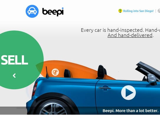 Beepi's website aims to make both buying and selling