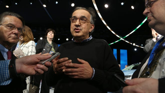 Sergio Marchionne at the 2016 North American International Auto Show.