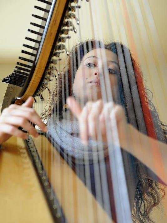 Harpist Rachel Clemente