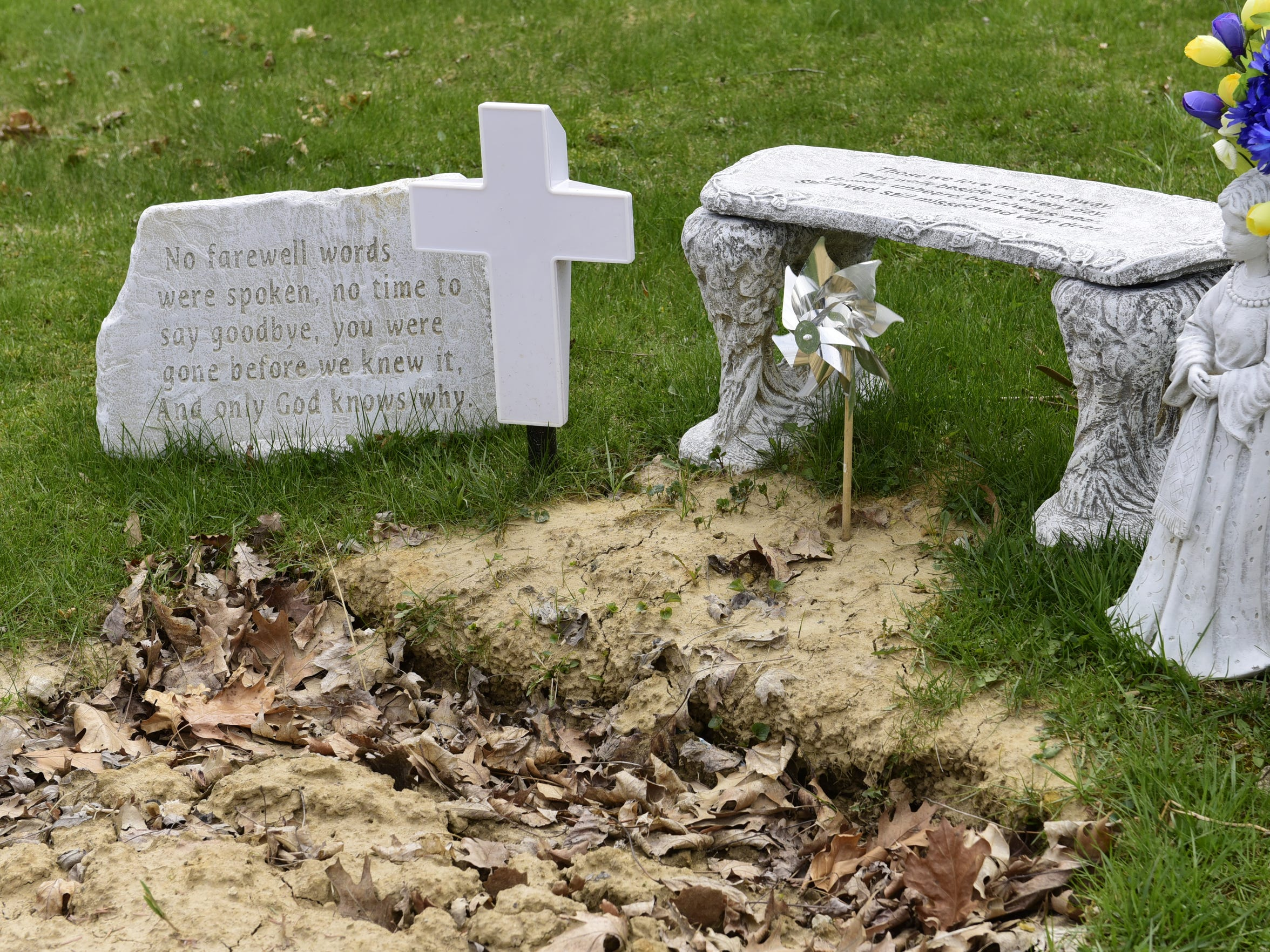 Joey Silcox is buried next to his grandmother and grandfather at Oakwood Cemetery. He was one of 23 people in Sandusky County to die of a drug overdose in 2016, double the number of deaths from the previous year.