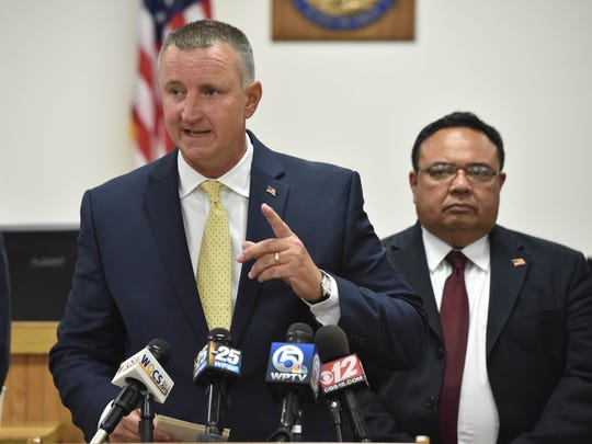 Chief Assistant State Attorney Tom Bakkedahl discusses the details during a media briefing on Tuesday, Sept. 20, 2016, on the grand jury decision of no indictment in the Fort Pierce Police fatal shooting of suspect Demarcus Semer.