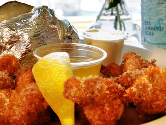 French Fried Lobster is the signature dish at Howard's Restaurant in Beach Haven Gardens.