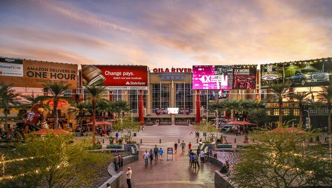 Westgate Entertainment District  and the Gila River Arena Wednesday, November 25, 2015 in Glendale Ariz.
