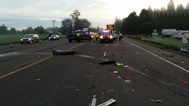 A fatal crash has closed lanes of Highway 34 east of Corvallis Friday morning.