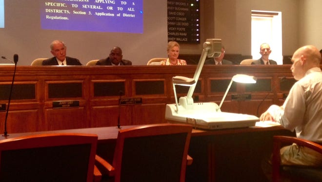 Stan Pilant, director of Jackson's Planning Department, answers questions at Tuesday morning's city council meeting.
