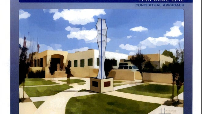 Concept art of a proposed public art project that was approved by the Moorpark City Council in July.