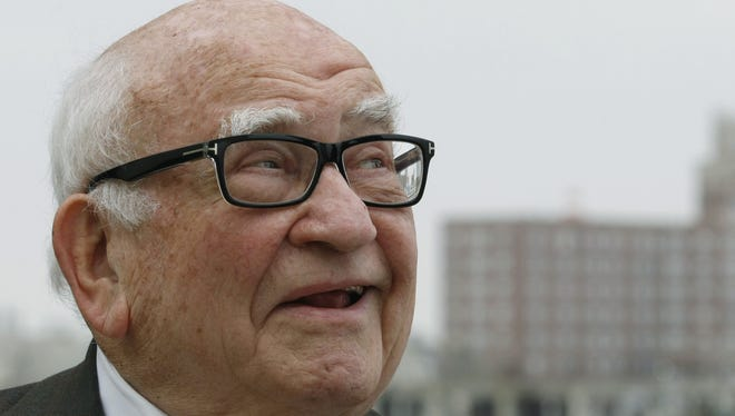 Legendary actor Ed Asner, during an interview at the Watermark in Asbury Park during the 2012 Garden State Film Festival.