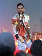 Elusive R&B star Miguel will perform at this year's Bonnaroo festival at midnight Sunday, June 12.
