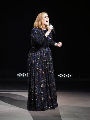Adele performs at Talking Stick Resort Arena on Aug. 16, 2016, in Phoenix.