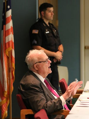 U.S. Rep. Jim Sensenbrenner told the capacity crowd that he would end the town hall meeting at the Brookfield Library if the crowd became unruly, and kept track of what he considered audience outbursts during the July 5 session.