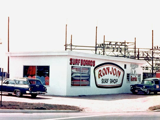 The original Ron Jon Surf Shop in New Jersey, circa