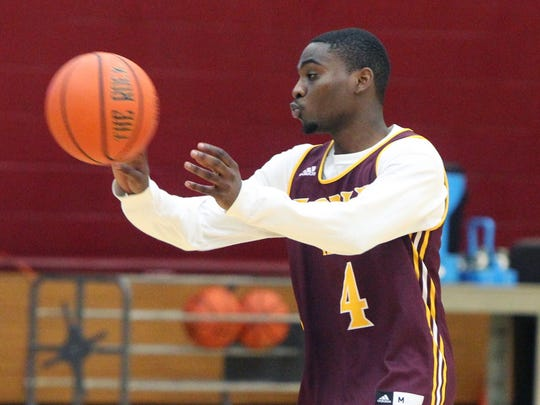 Schadrac Casimir during practice at Iona College in New Rochelle Nov. 8, 2017.