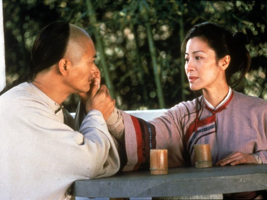 Chow Yun Fat and Michelle Yeoh in a scene from the