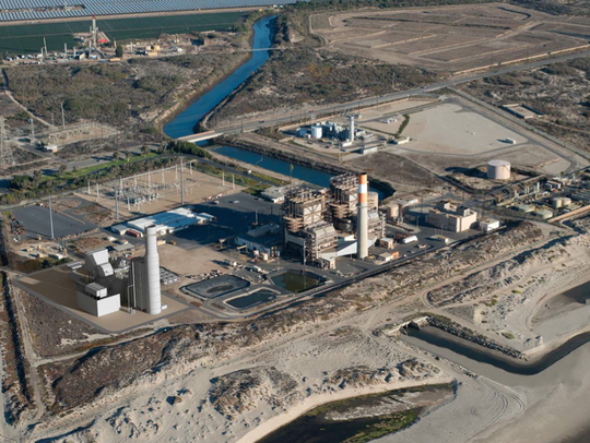 A visual simulation shows the new proposed power plant,