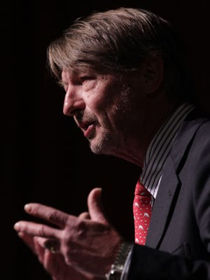 Political Reporter P.J. O'Rourke speaks at  Helene Galen Auditorium at the Annenberg Center in Rancho Mirage on February 23, 2016.