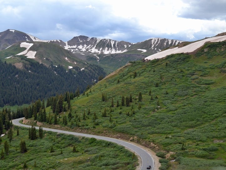 Colorado Independence Pass The highest paved state