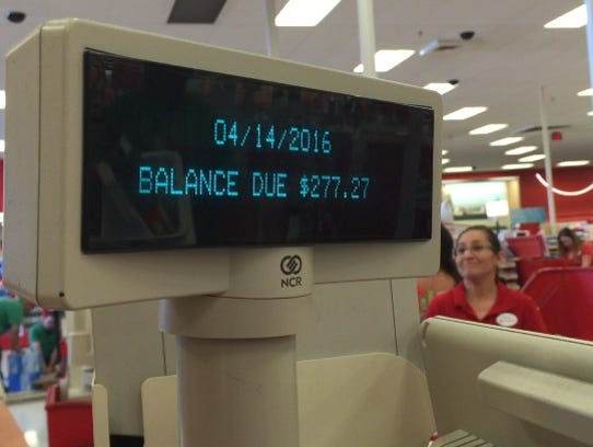 Coachella-goers check out at a Target in La Quinta in April 2016.