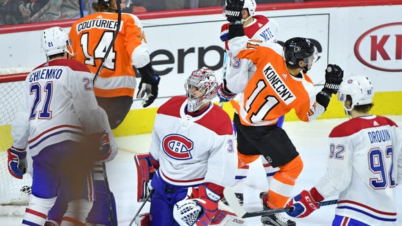Travis Konecny and the Flyers have been on a roll lately.