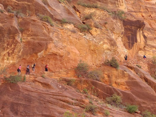 Stairway to heaven: the first half of the hike isn't dangerous, but much of it is quite steep