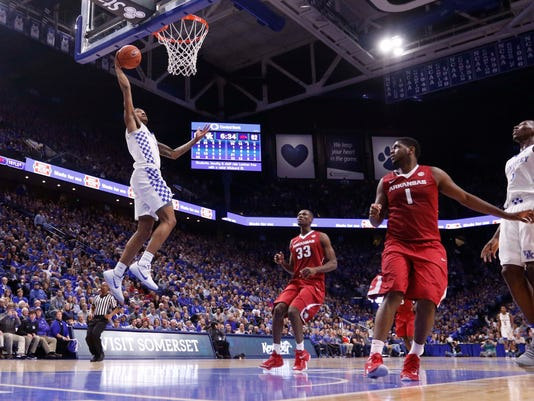NCAA Basketball: Arkansas at Kentucky