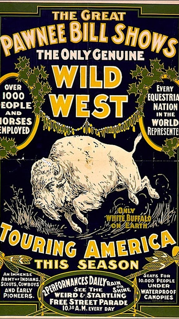 Pawnee Bill's Wild West Show poster (Circa 1903 Poster; The Prints and Photographs Division of The Library of Congress)