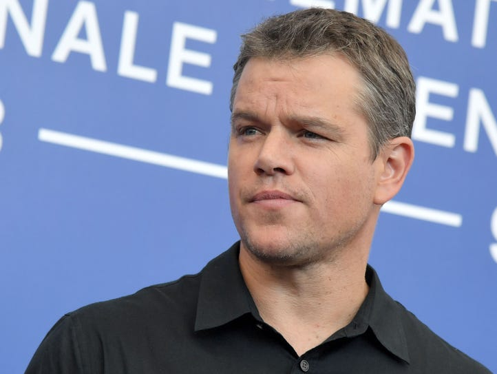 Matt Damon is pictured attending an event at the 74th