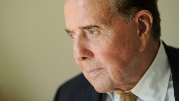Former senator Bob Dole, who is now 92.